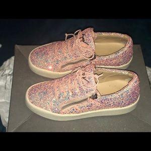 3eca5dd48c7 Giuseppe Zanotti Shoes - Giuseppe Zanotti May Coarse Pink Glitter Sneaker